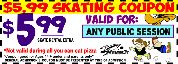 united skates east coupons