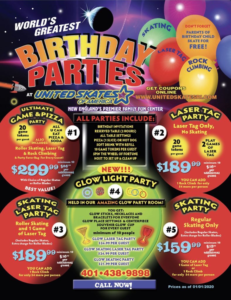 World's Greatest Birthday Parties for Kids and Adults - Roller Skating Birthday Parties